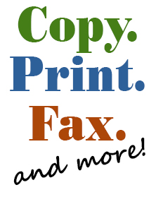 Copy, Fax and Print